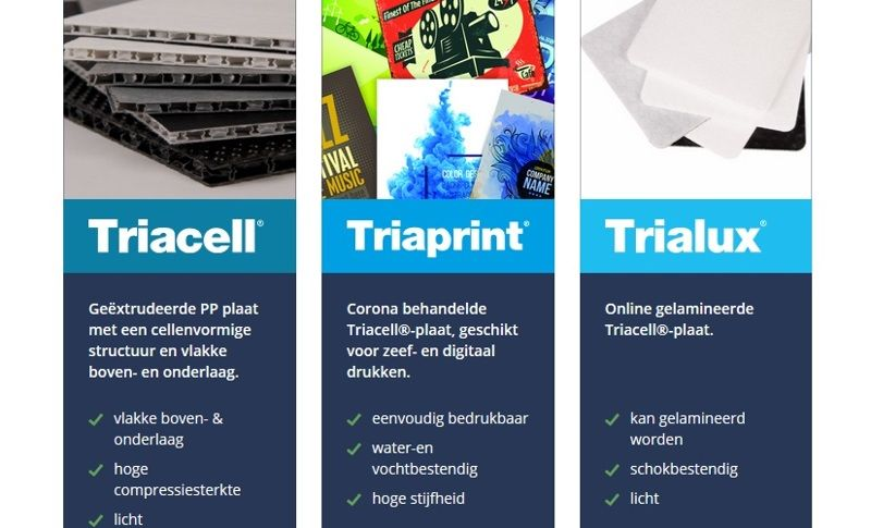 Launch of new products : Triacell® / Triaprint® / Trialux®